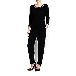 Wallis - Petite embellished cuff and neck jumper