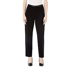 Wallis - Petite black zip pocket trouser