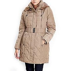 Wallis - Petite camel padded coat