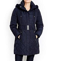 Wallis - Petite navy padded coat