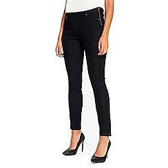 Wallis - Petite indigo demi side zip jeans