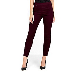 Wallis - Petite berry side zip trouser