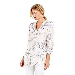Wallis - Petite blush longline shirt