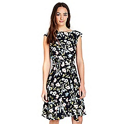 Wallis - Petite floral fit & flare dress