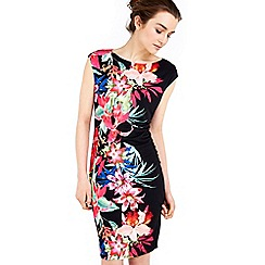 Wallis - Petite tropical placement dress