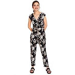 Wallis - Petite palm print jumpsuit