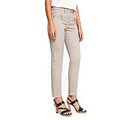 Wallis - Petite neutral zip trousers