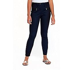 Wallis - Petite navy zip trousers