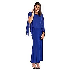 Wallis - Petite blue embellished overlayer maxi dress