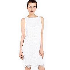 Wallis - Petite ivory lace shift dress