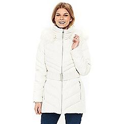 Wallis - Petite white coat