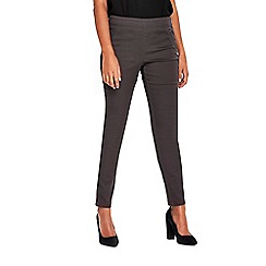 Wallis - Petite grey tinseltown side zip trousers
