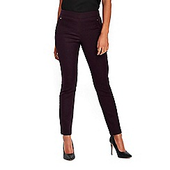 Wallis - Petite berry side zip trousers