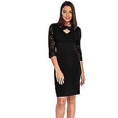 Wallis - Petite black lace dress