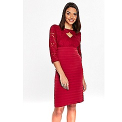 Wallis - Petite red lace dress