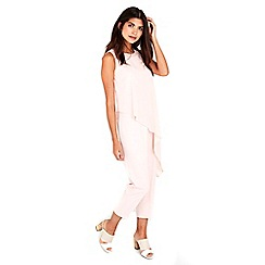 Wallis - Petite blush layered jumpsuit