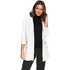 Wallis - Petite grey longline scuba jacket
