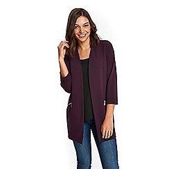 Wallis - Petite purple longline scuba jacket