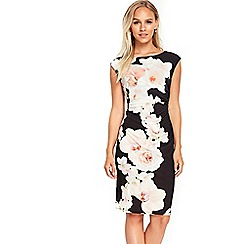 Wallis - Petite black monochrome floral dress
