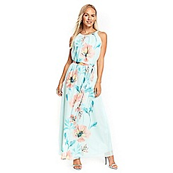 Wallis - Petite mint poppy floral maxi dress