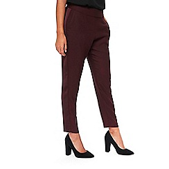 Wallis - Berry satin crepe trousers