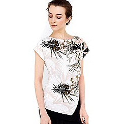 Wallis - Petite tropical block hem top