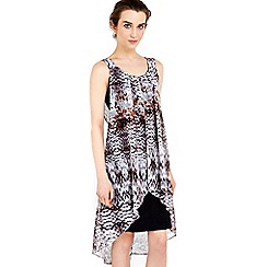 Wallis - Petite animal overlay dress