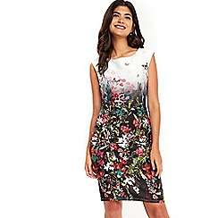 Wallis - Petite floral border shift dress