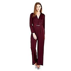 Wallis - Petite purple embellished jumpsuit