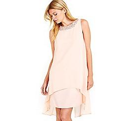 Wallis - Petite blush embellished overlay dress