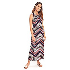 Wallis - Petite red chevron animal maxi dress