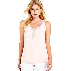 Wallis - Petite blush embellished camisole top