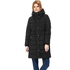 Wallis - Petite black padded coat