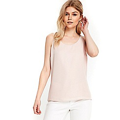 Wallis - Petite blush round neck camisole top