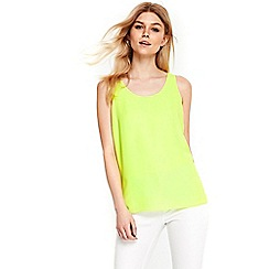 Wallis - Petite citrus lime round neck camisole top