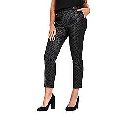 Wallis - Petite silver metallic trousers