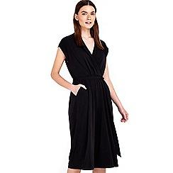 Wallis - Petite black coulotte jumpsuit