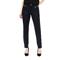 Wallis - Petite navy fly front trousers