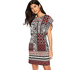 Wallis - Petite coral paisley shift dress