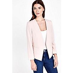 Wallis - Petite blush fitted jacket