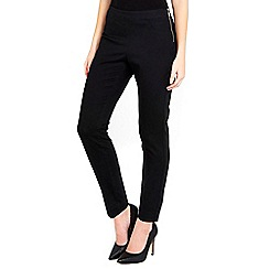 Wallis - Black side zip petite trousers