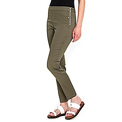 Wallis - Petite khaki side zip trouser