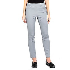 Wallis - Grey side zip petite trousers