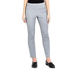 Wallis - Grey side zip petite trousers