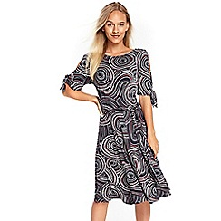Wallis - Petite multi coloured fit and flare dress