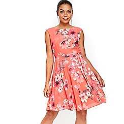Wallis - Petite pansy fit and flare dress