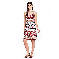 Wallis - Petite red tribal camisole dress