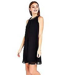 Wallis - Petite black embellished dress