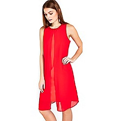 Wallis - Petite coral embellished dress