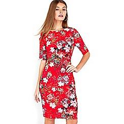 Wallis - Petite red oriental dress